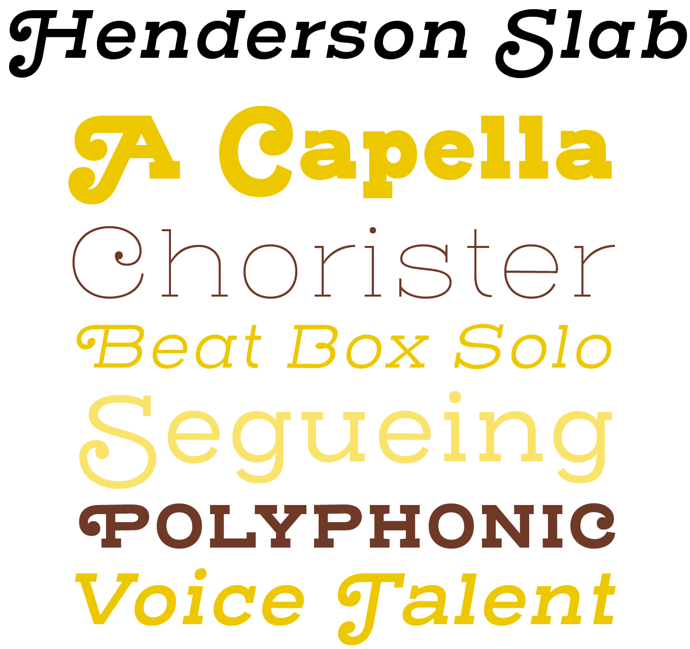 Henderson Slab Font Sample