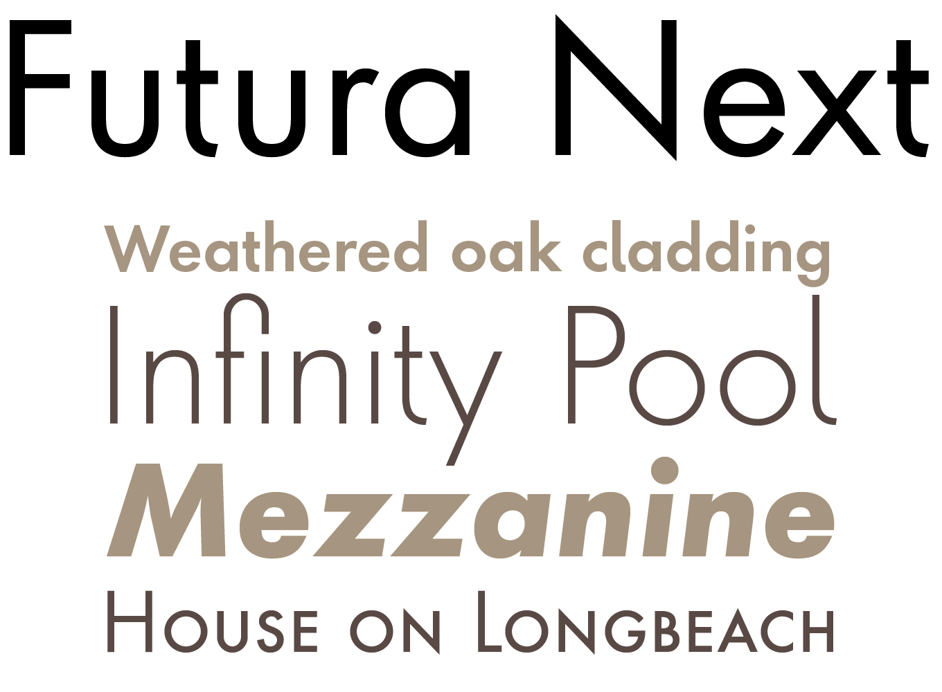Futura Next Font Sample