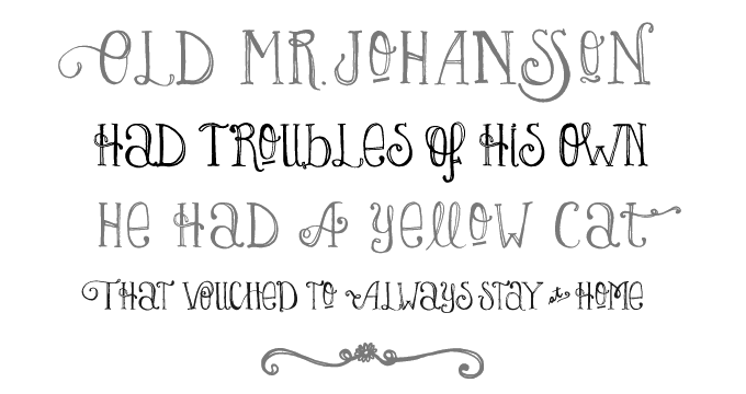 Lady Rene font sample