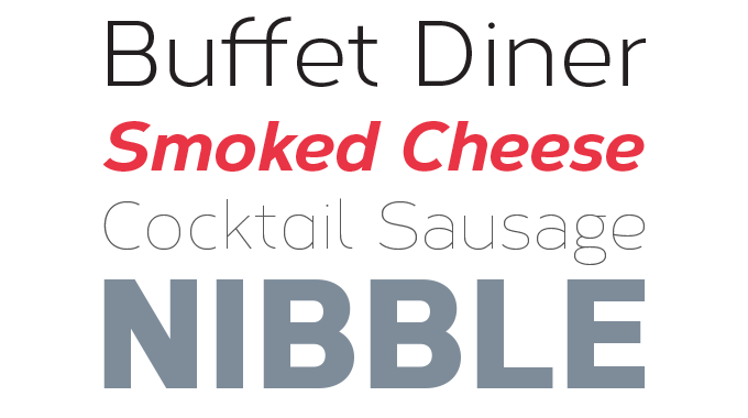 Corbert font sample
