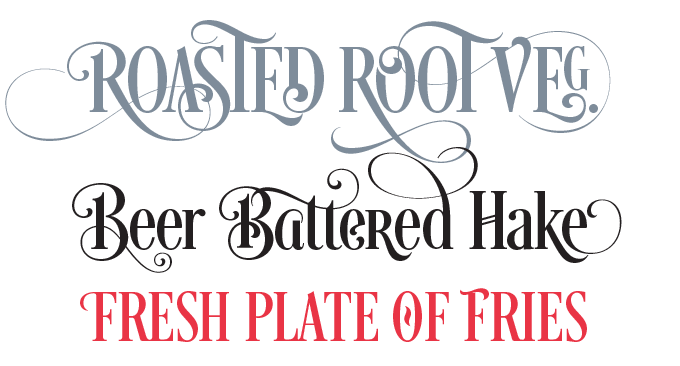 Desire font sample